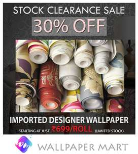 Biggest Wallpaper clearance sale - Starting from 700 per roll