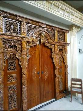 Pintu kusen Gebyok Kayu Jati Gawe
