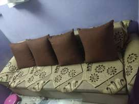 5 seater Sofa cum bed with 2 single