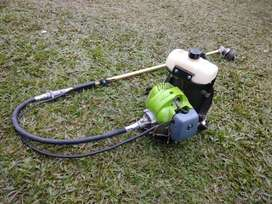 grass cutter,uses petrol, with bag and back