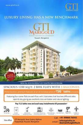 Spacious Luxury 3 BHK Flat For Sale. Loaded With Premium Features