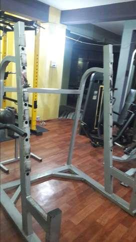 Squat rack n multiple use rack.