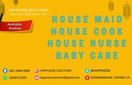 WE REQUIRED FEMALE ONLY - HOUSE MAID BABY CARE HOME NURSE HOME COOK