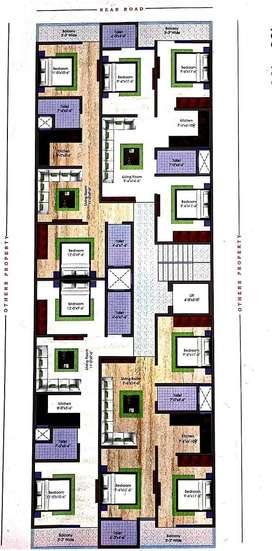 2bhk IN Chanakya place ' 90% home loam