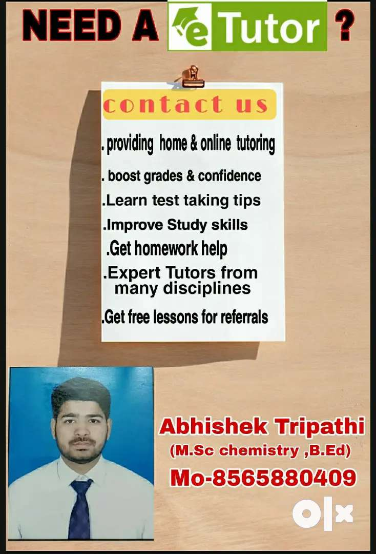 We are looking for teachers as well students.
