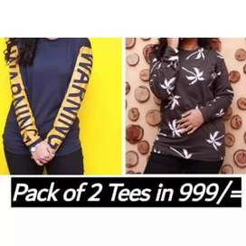 Printed Tshirts for men and women wholesale rates