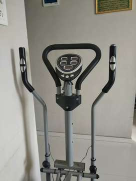 Elliptical trainer cycling machine