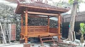 Saung gazebo kayu jati ukuran 3x2m.