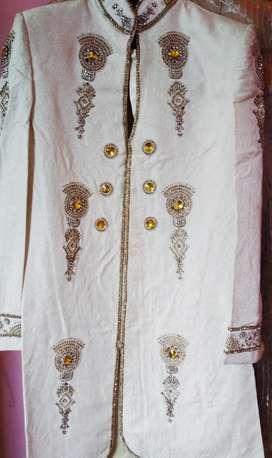 White beautiful Sherwani (Indo Western)
