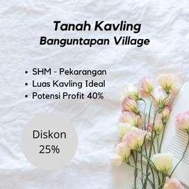 PROMO POTONGAN HARGA 25% Tanah Banguntapan 5 menit ke Jl Imogiri Timur