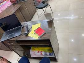 Cardboard counters and study table