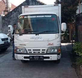 Sewa mobil pick up khusus barang / truck engkel box + driver di Bali