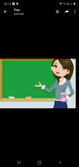 Female teacher required for class 4th std student icsc board