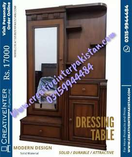 Dressing table best look center wardrobe iron stand sofa cum bed