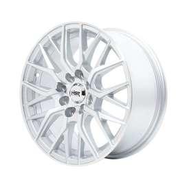 jual velg type HSR-Ambarita-2085-Ring-15x6.5-H8x100-1143-ET40-Silver-M