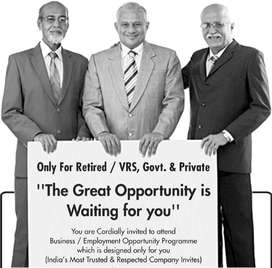 Retired person required
