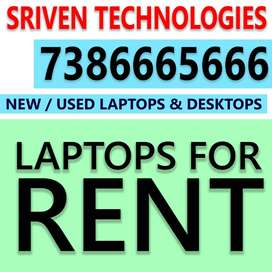 Laptops  & Computers FOR RENT / Hire Sriven Chanti mg road