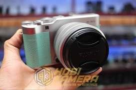 Kamera Mirrorless fujifilm X-A5 Lensa 15-45mm Af Ois Mint Green