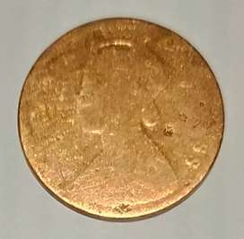 Old coins one quarter anna