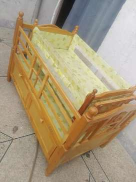 Baby Cot wooden in good condition..