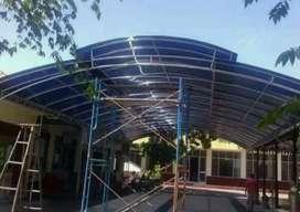 Pemasangan kanopi stainless atap minimalis