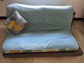 Sofa cum bed relaxing