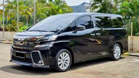 Toyota Vellfire ZG 2.5 AT 2015 Black On Black Plat Ganjil