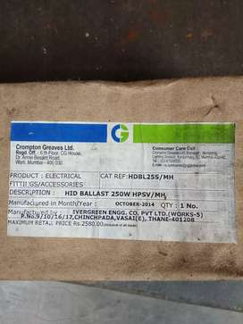 HiD Ballast 250w HPSV/MH