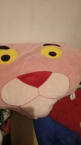 Bantal boneka pink panther miniso