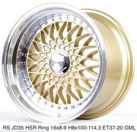 modif velg livina RS JD35 HSR R16X8/9 H8X100-114,3 ET37/20 GOLD/ML