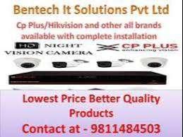 CCTV camera Hikvision & Cp plus and door lock , Door phone installati