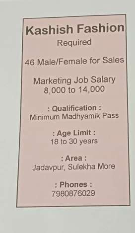 Direct company.. Interview on going.. Call for job details..