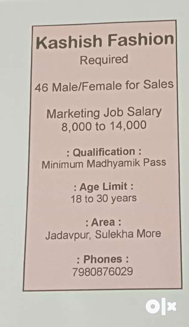 Direct company.. Interview on going.. Call for job details.. 0