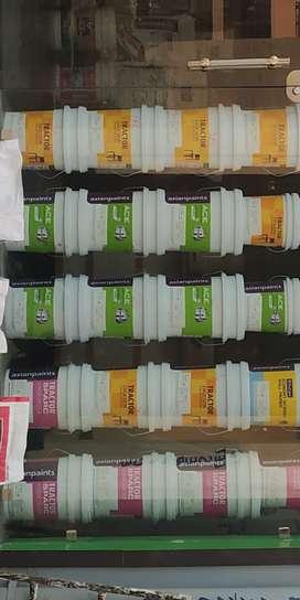 Paint putty SAMOSM enamel emulsion distemper REGMAR tarpin roller all