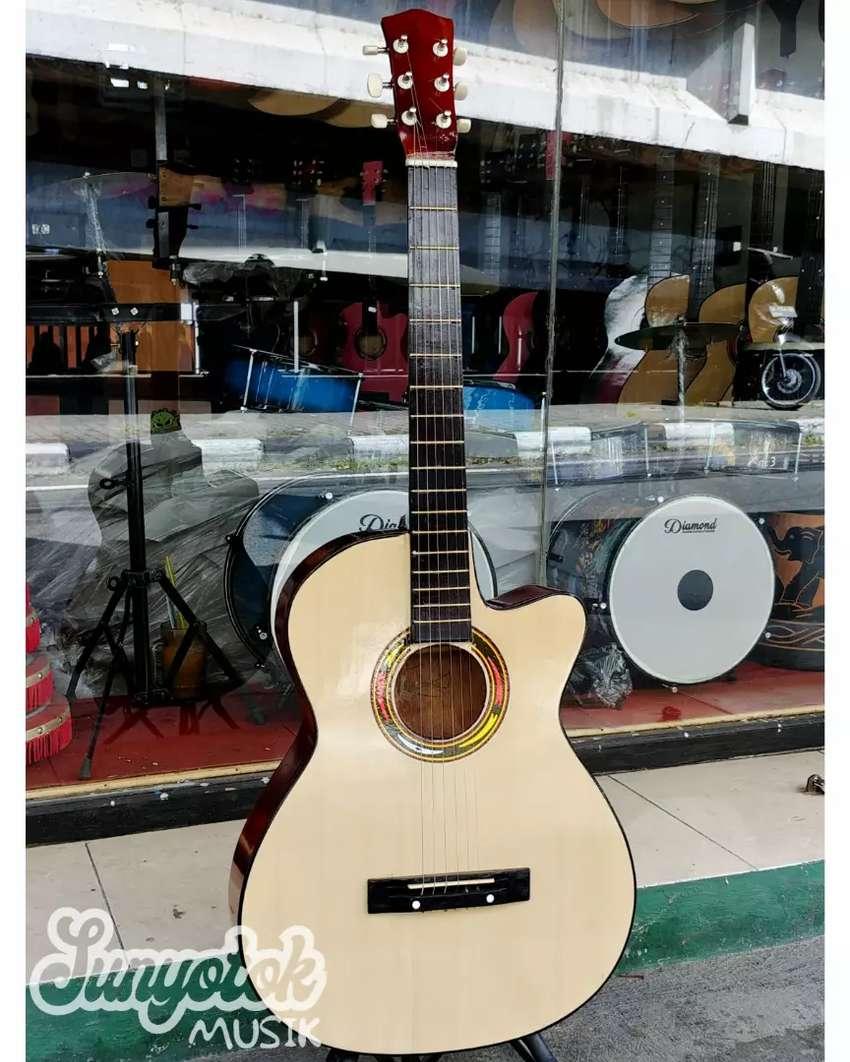 Gitar Akustik Pemula krem Glossy 0