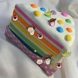 Chawa Jumbo Rainbow Cake