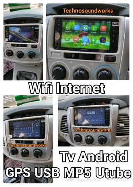 Android Flat tape mobil TV Full HD  GPS internet double 2 din WiFi