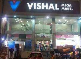Required fresher male and female candidates in shopping mall .