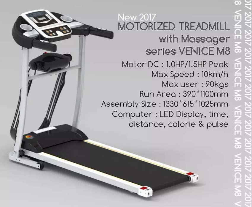 Motorized Treadmill with Massager VENICE M8 (Dlife Fitness Store) 0