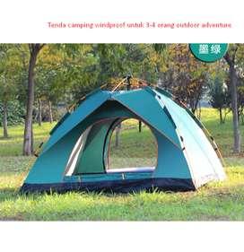 Tenda camping windproof untuk 3-4 orang outdoor adventure