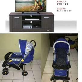 Stroler baby does dan bufet meja TV merek lunar