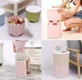 Side Table Stackable Storage Organizer Stool Chair mini Seat Bench Box