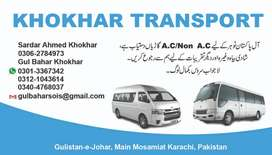 Coaster/ hiace for rent
