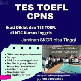 Tes TOEFL Bersertifikat SEHARI JADI