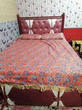 bed with two side tabels and molty foam for sale