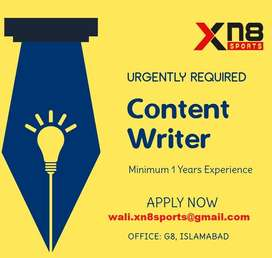Required Remote Content Writer