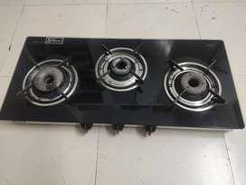 GLEN High Quality Gas Stove: 3 Burners