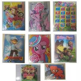 puzzle karton untuk pelajaran ketrampilan anak