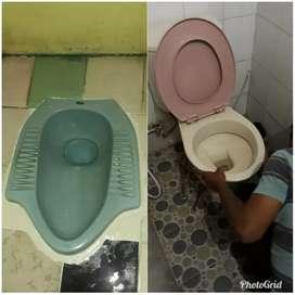 Jasa melancarkan wc tumpat saluran air wastafel tumpat sedot saptitank