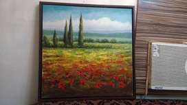 Canvas colour wall painting